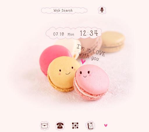 無料壁紙-Macaron Lover-かわいいきせかえ