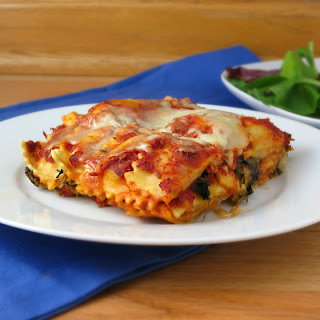 Easy Ravioli Lasagna.