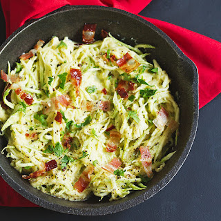Cauliflower Alfredo Sauce with Zucchini Noodles