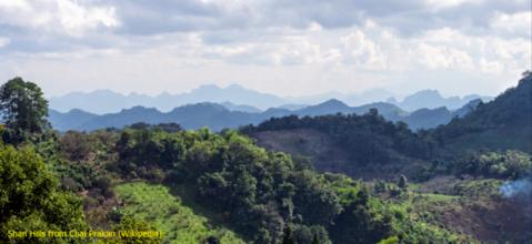 Photo: Shan Hills from Chai Prakan (Wikipedia)