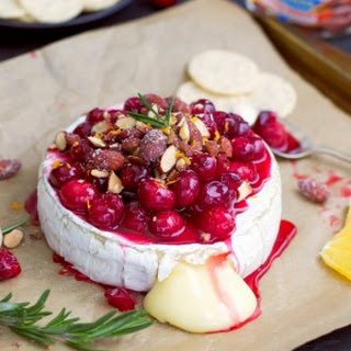 Baked Brie With Cranberries And Almonds