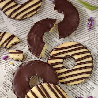 Fudge-Striped Shortbread Cookies