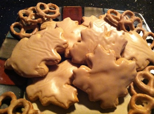 Soft Maple Leaf Glazed Cookies Recipe