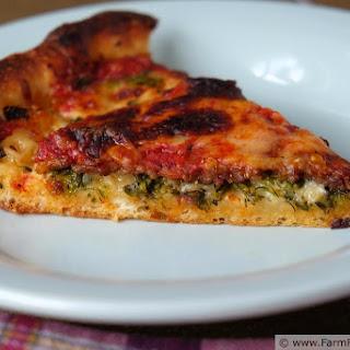 Spicy Broccoli Rabe Deep Dish Pizza
