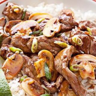 Beef and Mushroom Stir-Fry.