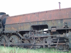 Photo: 6042 sits in a paddock, quietly rusting away.