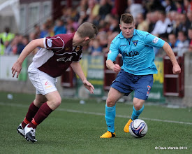 Photo: Stenhousemuir fc v Dunfermline fc, Scottish League 1, Ochilview , 24-08-13Nicky Devlin and Alex Whittle(c) David Wardle