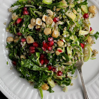 Winter Nut and Seed Salad With Massaged Kale and Tamari Almond Butter Dressing [Vegan]