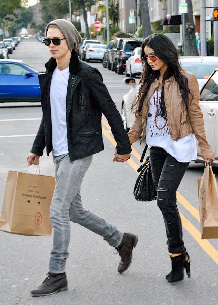 Photo: Spotted // Leaving one of our stores in California, #VanessaHudgens and #AustinButler were seen with bags in hand after a shopping spree.  Shop Our Collection>> UK & Europe> http://bit.ly/UCuEfw US> http://bit.ly/ZwHWPK