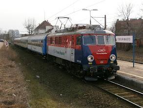 """Photo: EP07P-2003, IR """"Mamry"""" Międzylesie - Olsztyn Główny {Toruń Miasto; 2013-03-07}"""