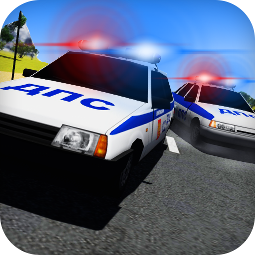 Racing on Lada Vaz Police 3D