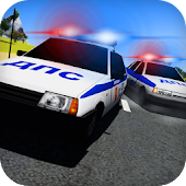 Racing on Lada Vaz Police 3D