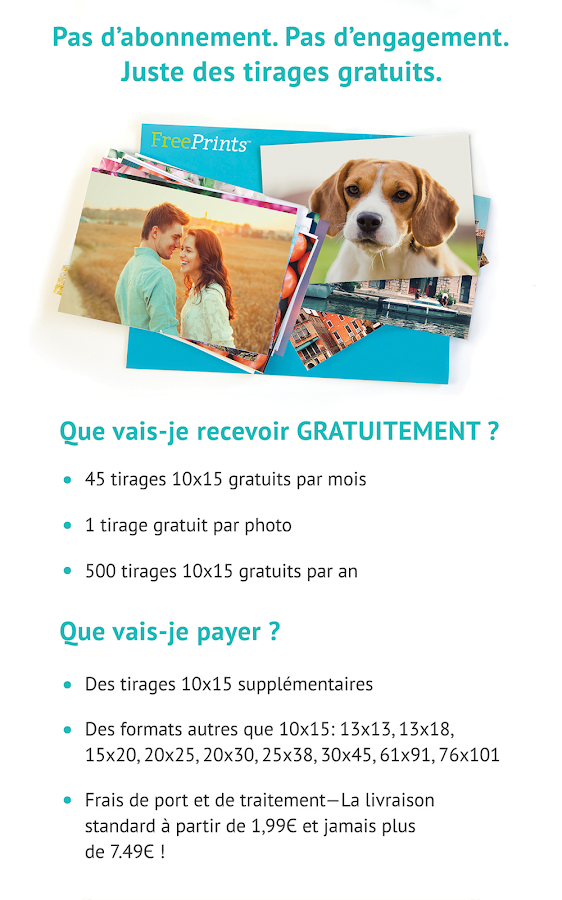 Free Prints - Photos Gratuites – Capture d'écran