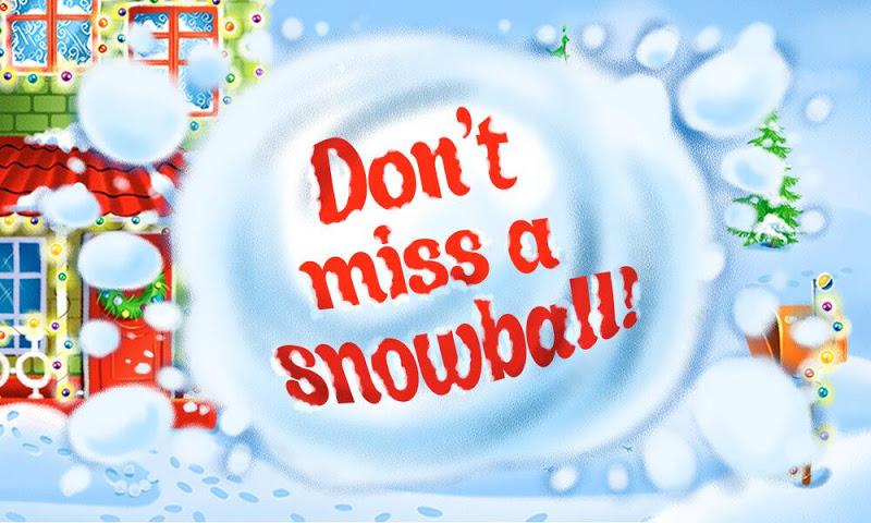 android Christmas magic snowballs Screenshot 0