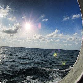 MYSTIC OCEAN... by Ayan Khastgir - Instagram & Mobile Android ( sunrays, ocean, ocean view, mobile photos, water )