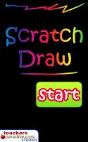 Screenshot of Scratch Draw Art Game