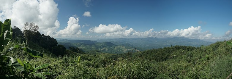 Blick nach Myanmar.