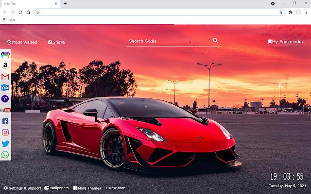 Lamborghini Chrome NewTab UHD Wallpaper