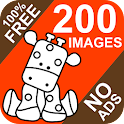 24hday coloring free no ads icon
