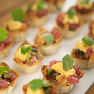 Tuna Tartare In Phyllo Cups.