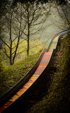 """Photo: This photo appeared in an article on my blog on Nov 3, 2013. この写真は11月3日ブログの記事に載りました。 """"Sliding Down a Mountain Slide, In Style"""" http://regex.info/blog/2013-11-03/2329"""