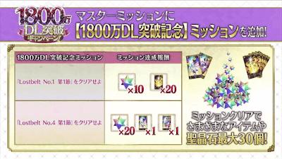 1,800万DL記念ミッション