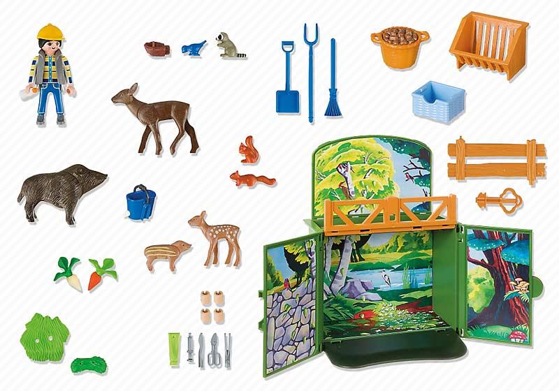 Contenido Real de Playmobil® 6158 Cofre Bosque