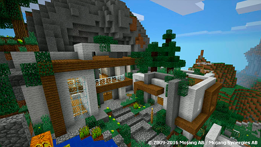 Modern Mountain Home MCPE map