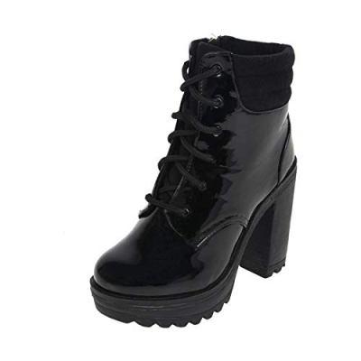 Catwalk Women's Patent Combat Boots