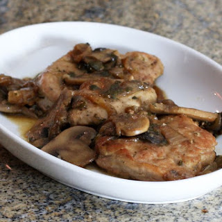 Pork Tenderloin With Mushrooms and Onions.
