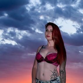Alecia at Sunset by Murray howard-Brooks - People Portraits of Women