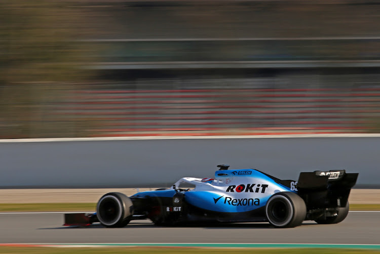 The Williams FW42 in action during pre-season testing