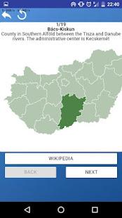 Counties of Hungary - maps, tests, quiz screenshot 5