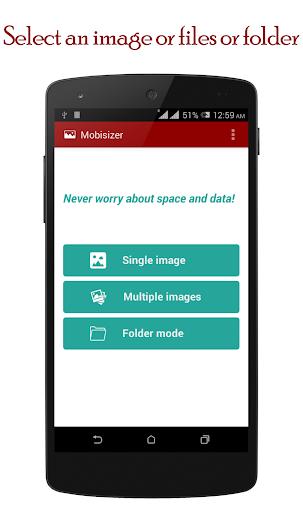 Reduce photo size : Mobisizer