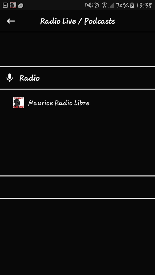 Maurice Radio Libre- screenshot