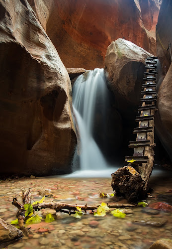 Kanarra Creek Falls by Brent Huntley - Uncategorized All Uncategorized ( kanarra creek, southern, xt1, utah, x shooter, 3 image hdr, southwest, fuji, landscape photography, kanarra creek falls, travel photography, hiking )