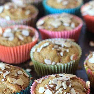 Gluten Free Carrot Cake Muffins w/ Simply Sesame Vanilla w/ Almond BIts.
