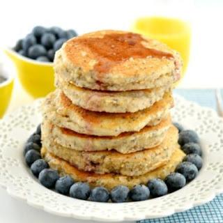 Cashew Chia Pancakes {GF, Low Cal}