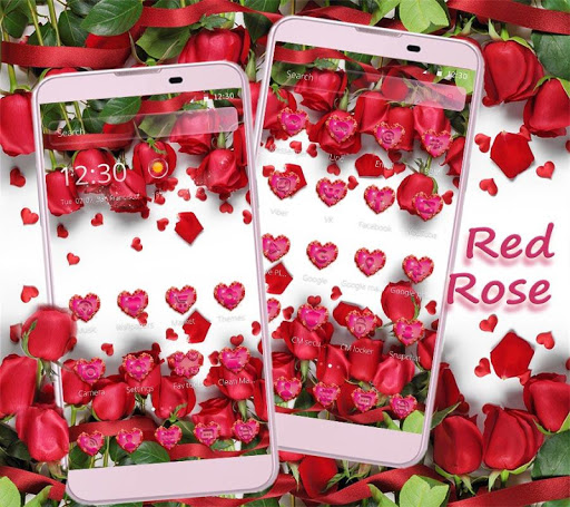 Red Rose Theme Wallpaper Red Roses Lock Screen 1.1.7 screenshots 6