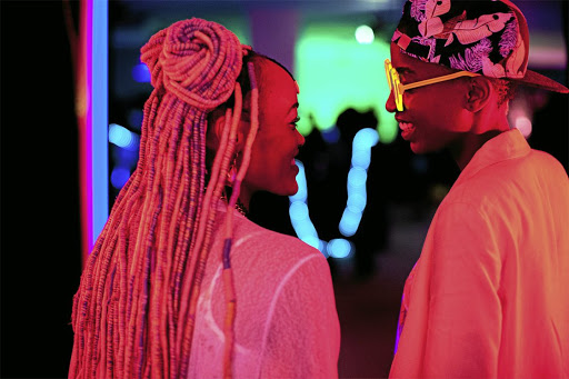 Lights, camera, action: Sheila Munyiva and Samantha Mugatsia in a scene from Rafiki, a controversial feature film to be shown at the Durban International Film Festival. Picture: SUPPLIED