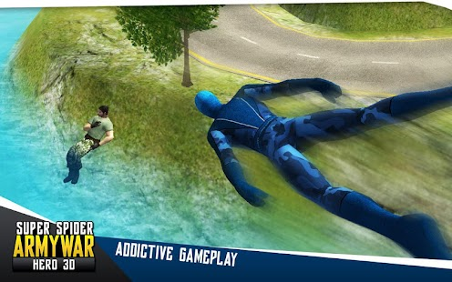 Super Spider Army War Hero 3D- screenshot thumbnail