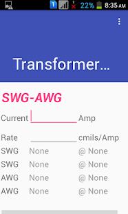 Transformer winding calculator apps on google play screenshot image greentooth Gallery