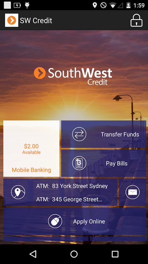 South West Credit– снимак екрана