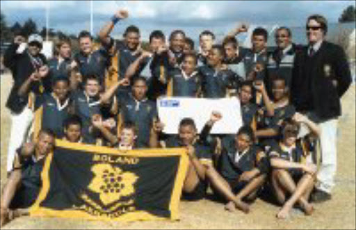 WINNERS: The Beland Primary School rugby team after winning the Craven Week rugby tournament. Pic. Meshack Khotha. 08/07/2007. © Sowetan.