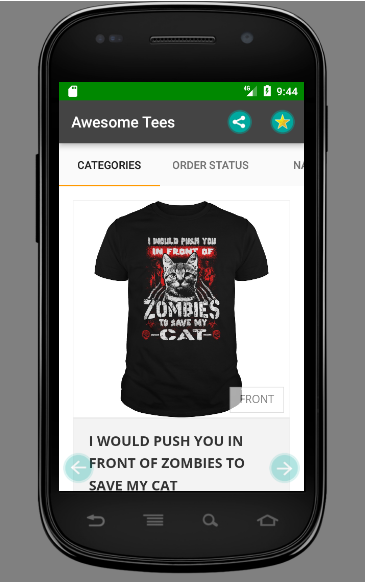 TEERACER Tshirt -  Awesome Tees- screenshot