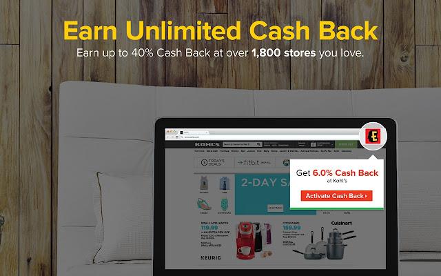 Ebates Cash Back chrome extension