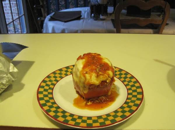 Rose's Italian Stuffed Red Peppers Recipe