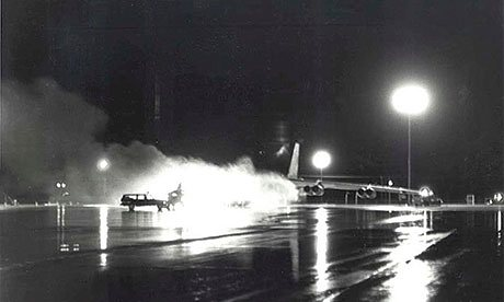 September 1980, a B-52 bomber loaded with 12 hydrogen bombs and nuclear warheads caught fire. The Guardian