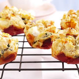 Prosciutto, Pumpkin and Feta Muffins.