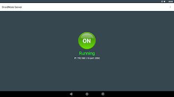 Screenshot of DroidMote Server